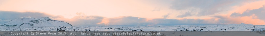 Cold Panorama Iceland