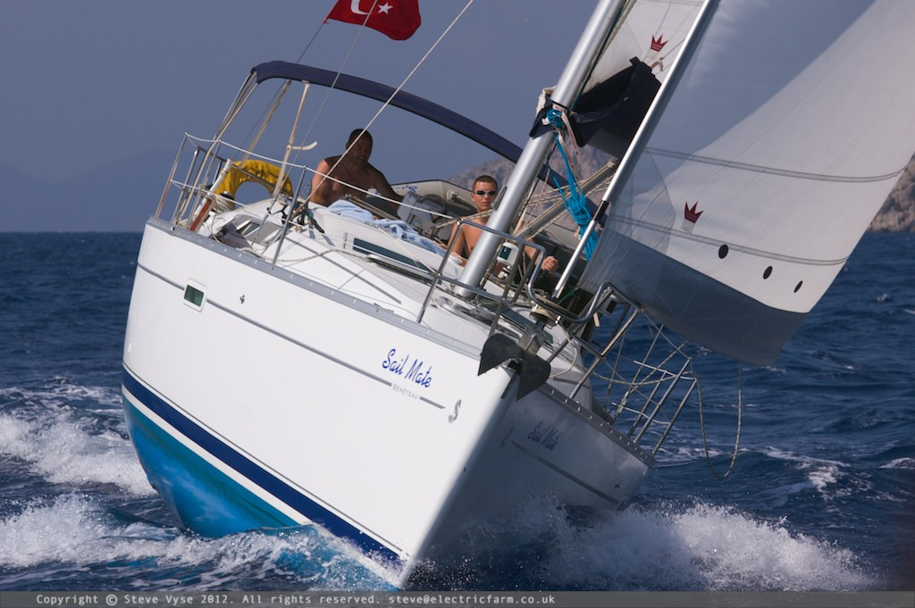 Flotilla sailing in Turkey.